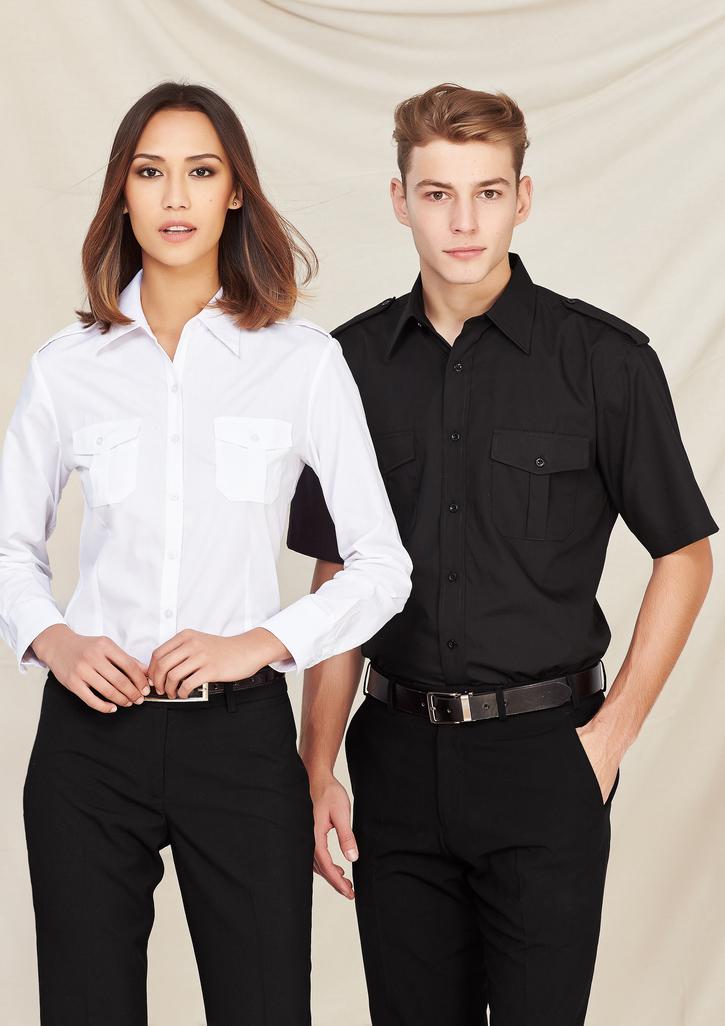 Mens Epaulette Short Sleeve Shirt - S10712