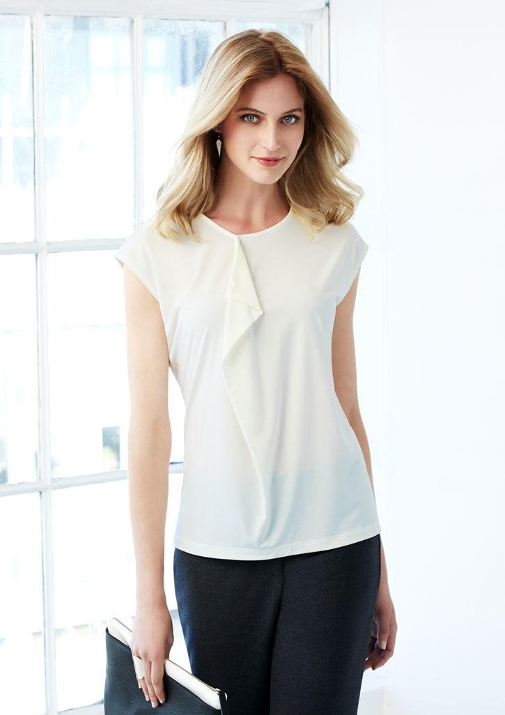 Ladies Mia Pleat Knit Top - K624LS