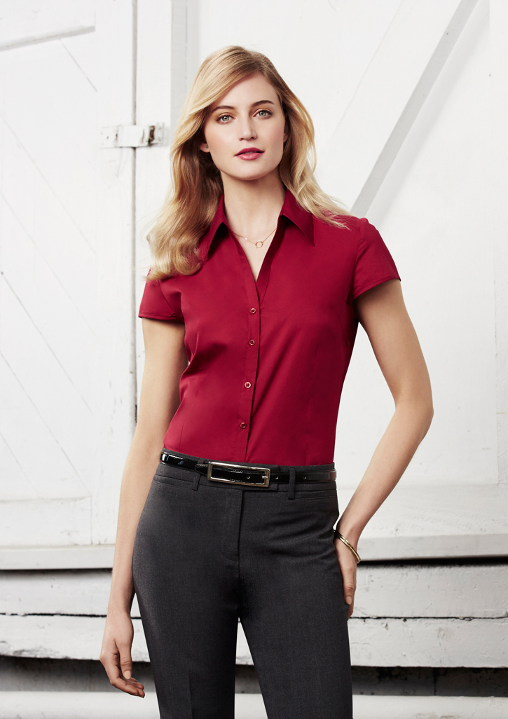 Ladies Metro Cap Sleeve Shirt - S119LN