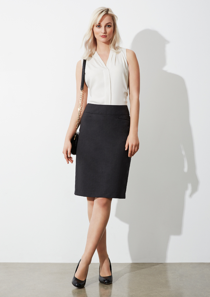 Ladies Classic Knee Length Skirt - BS128LS
