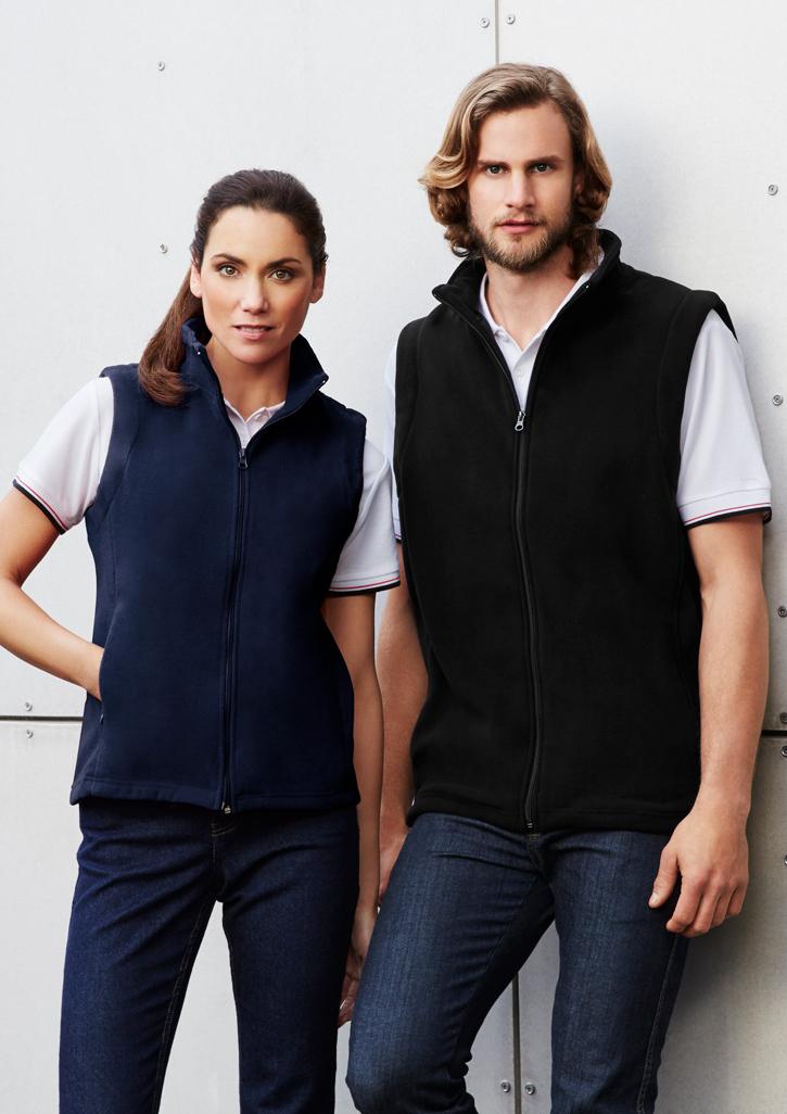 Mens Plain Micro Fleece Vest