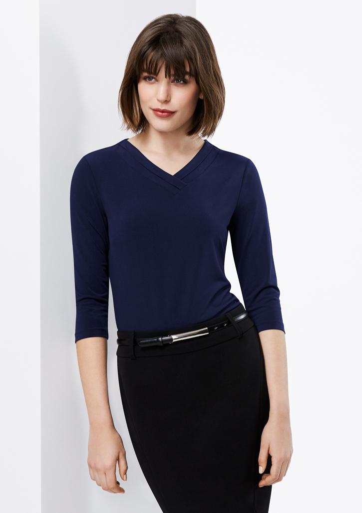 Ladies Lana 3/4 Sleeve Top - K819LT